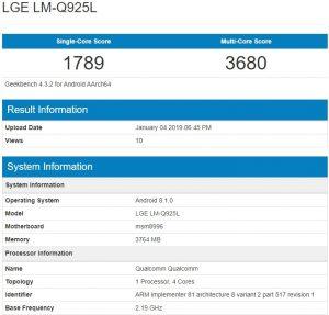 Lg Q9 Geekbench