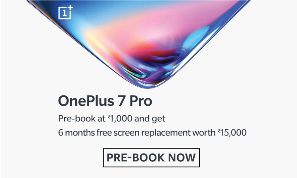 Oneplus 7 Pro Prebookings Amazon