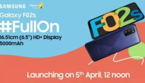 Galaxy F02s Launch Date In India