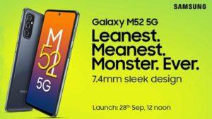 Galaxy M52 5g India Launch